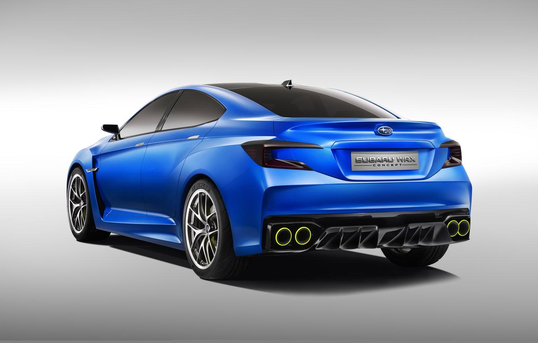 Photo wallpaper Concept, Subaru, WRX, blue