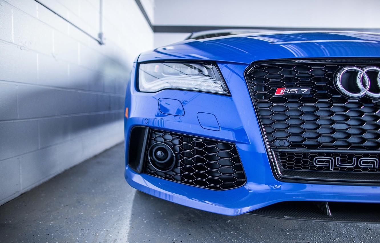 Photo wallpaper Audi, Audi, Blue, RS7