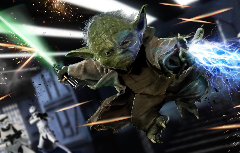 Photo wallpaper Star Wars, Yoda, Movie