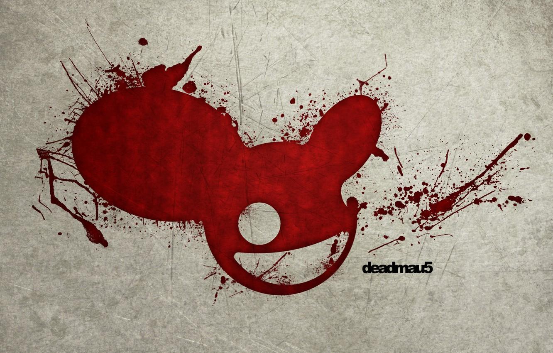 Photo wallpaper blood, mouse, spot, DJ, deadmau5, DJ Deadmau5, deadmaus