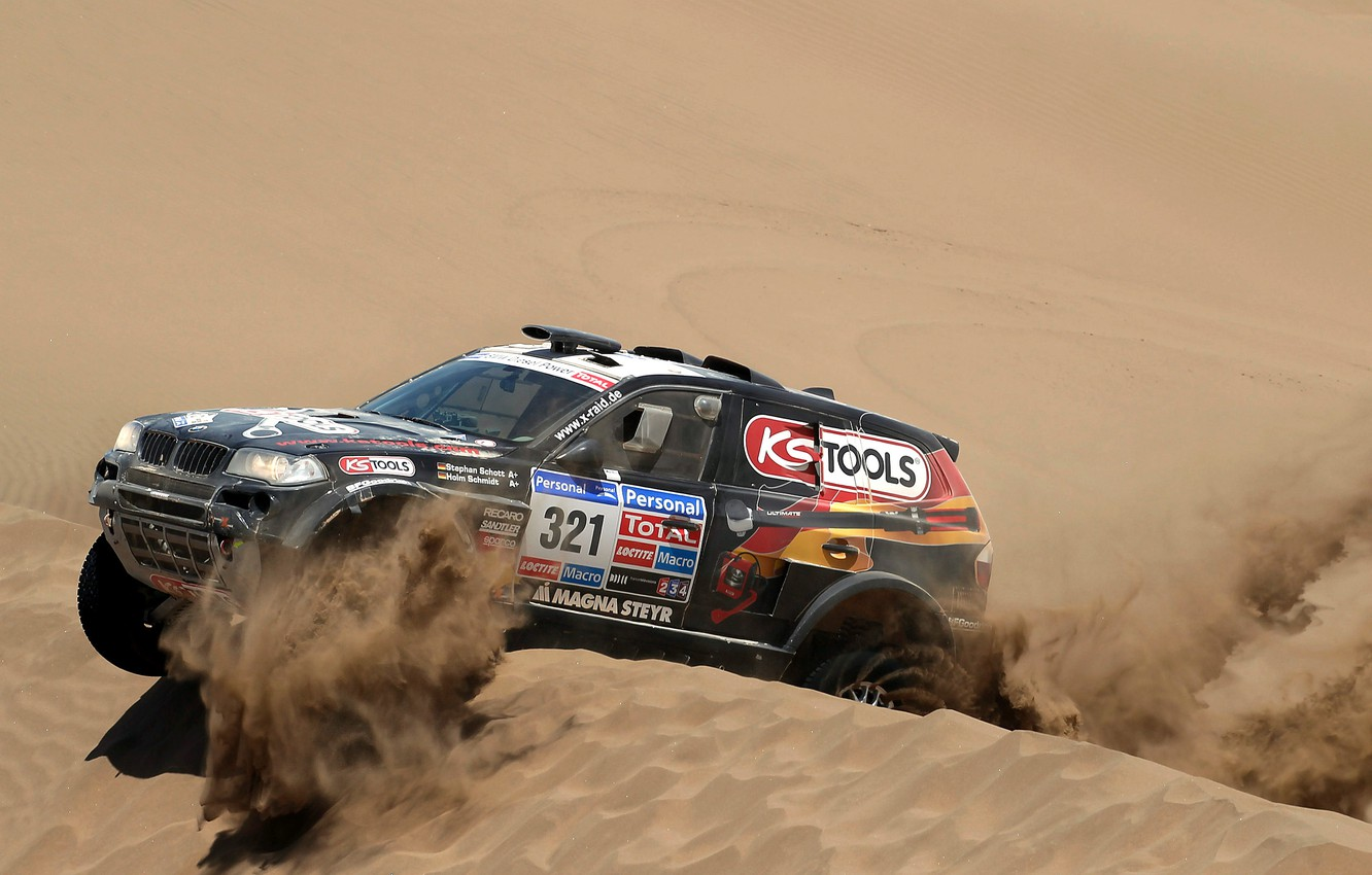 Photo wallpaper sand, Auto, Black, BMW, Desert, Race, Rally, Dakar, SUV, Dune, 321