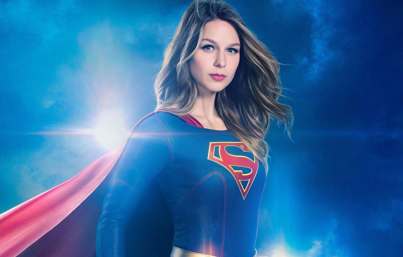 Photo wallpaper red, girl, logo, green eyes, dress, woman, blue, beautiful, super, series, singer, blonde, American, actress, …