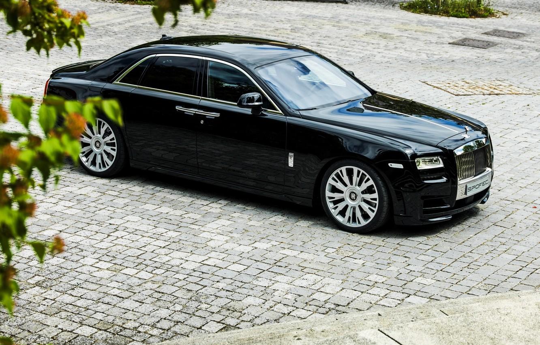 Photo wallpaper car, Rolls Royce, Ghost, black