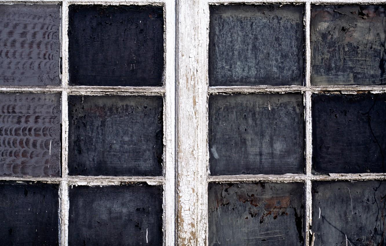 Photo wallpaper dirt, glass, wood, window, paint, lack of maintenance
