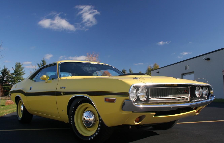 Photo wallpaper machine, Dodge, Challenger, muscle car, classic, 426, Hemi, R/T