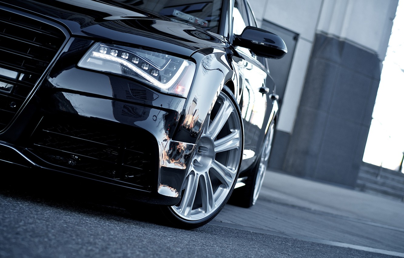 Photo wallpaper car, auto, Audi, audi, car, black, cars, auto, wallpapers auto, wallpapers audi, Audi A8