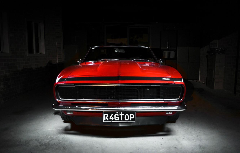 Photo wallpaper Chevrolet, Camaro, Red, Chevrolet, muscle car, Camaro, Classica