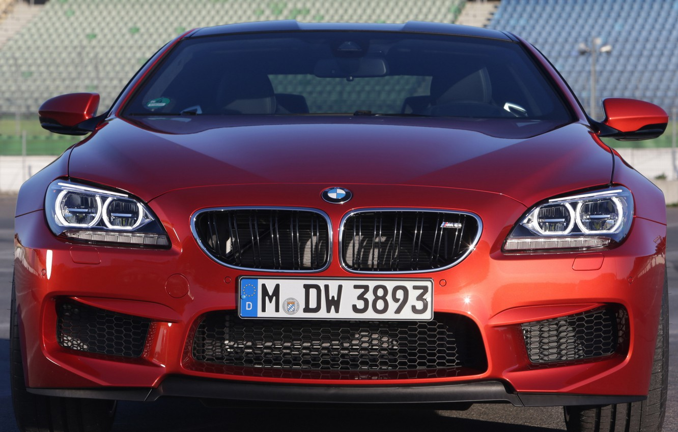 Photo wallpaper car, lights, BMW, grille, red, Coupe, the front, front, Competition Package