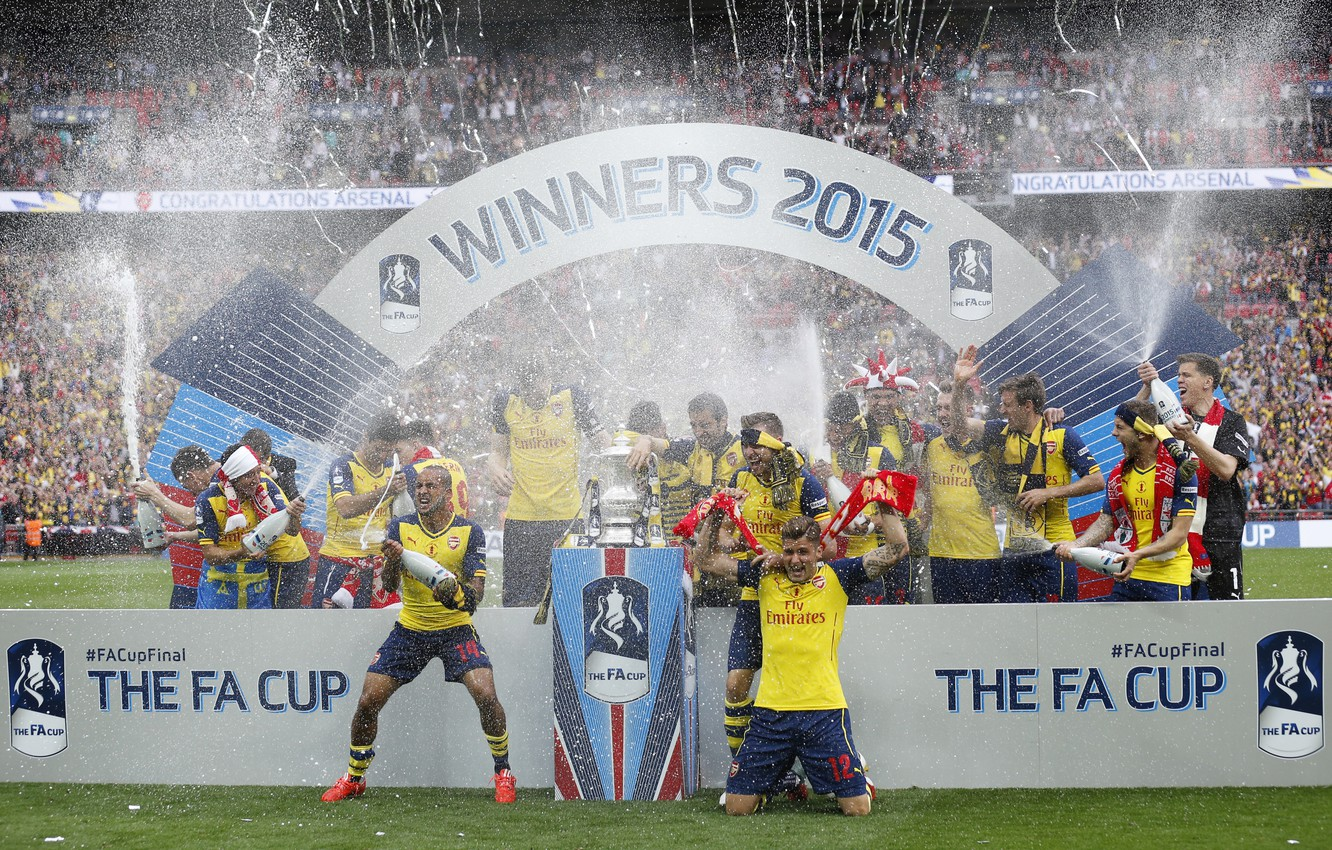 Photo wallpaper squirt, background, victory, Arsenal, tribune, Arsenal, Football Club, the gunners, The Gunners, football club, 2015, …