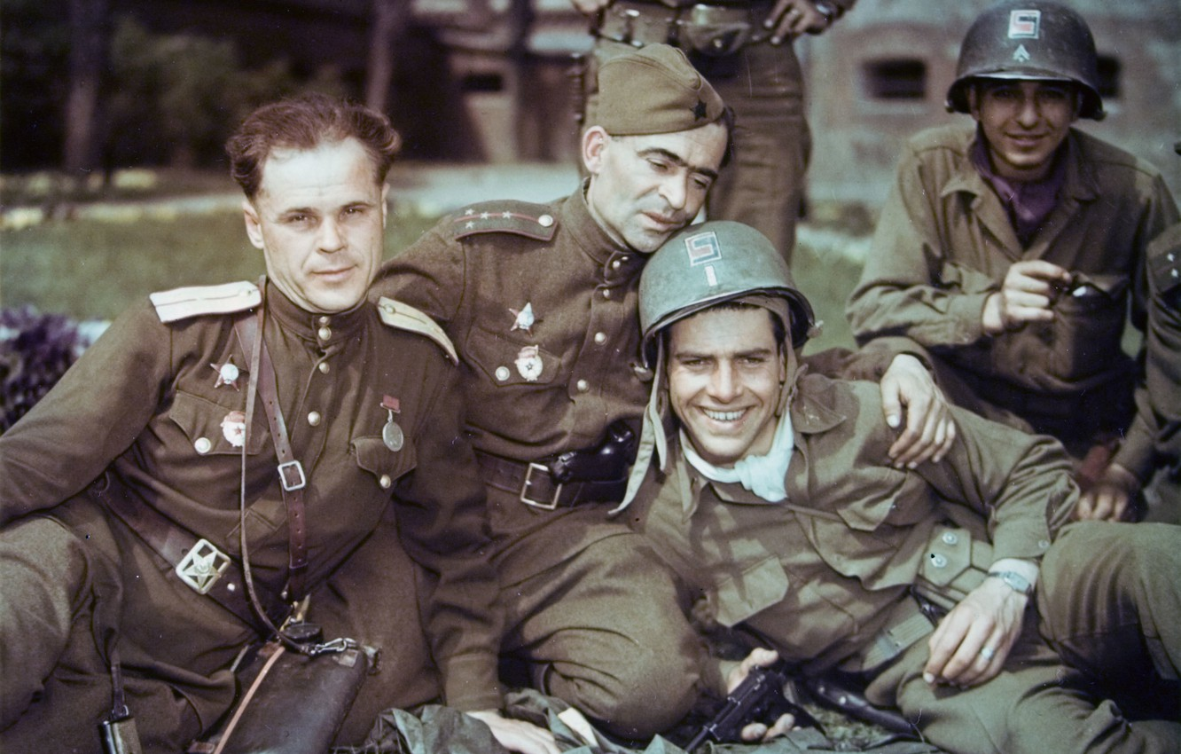 Photo wallpaper Soldiers, USSR, Form, USA., Awards, Men
