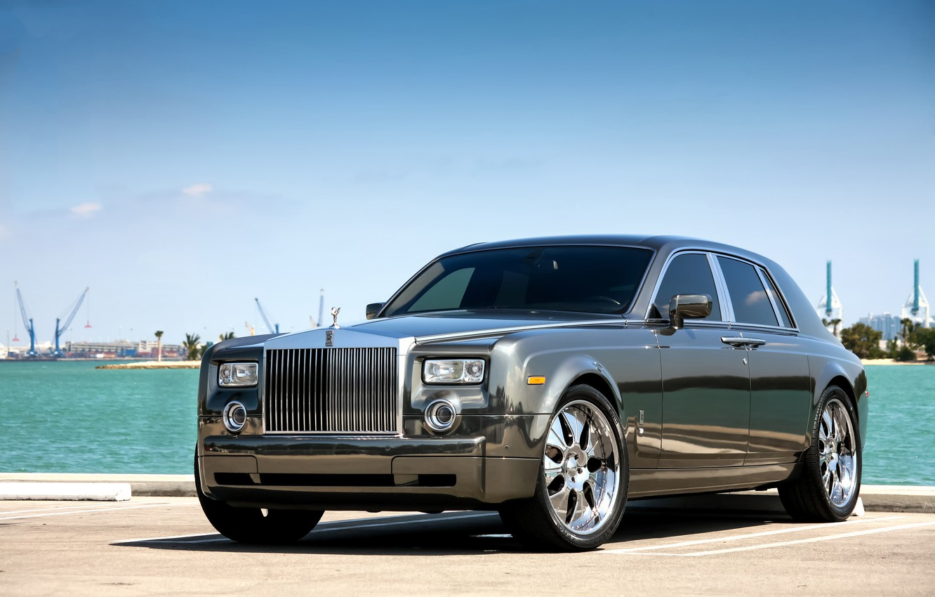 Photo wallpaper Rolls-Royce, Phantom, Wheels, Hrome
