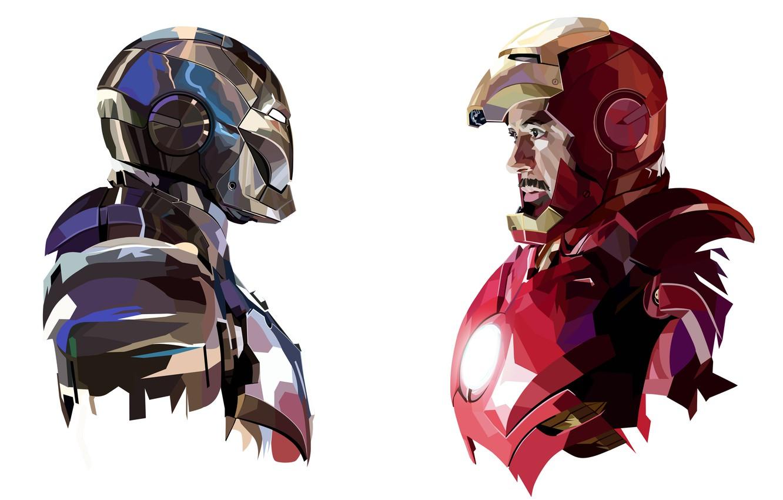 Photo wallpaper armor, marvel, iron man, comic, tony stark, mark 2, mark 3