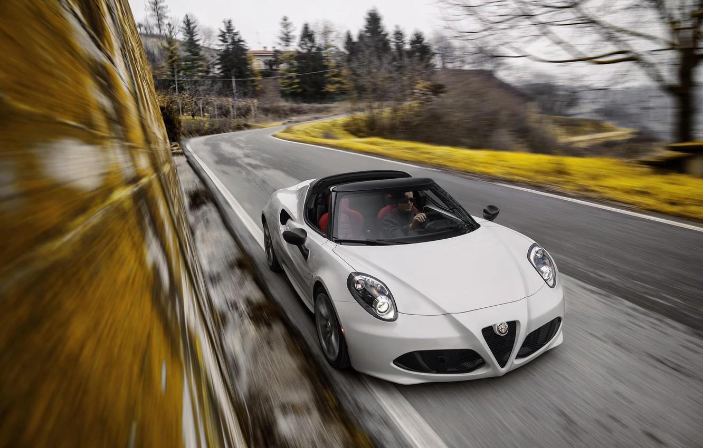 Photo wallpaper Alfa Romeo, Spider, Alfa Romeo