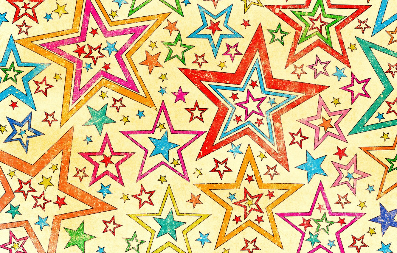 Photo wallpaper background, stars, texture, Stars, colorful, style, texture, background, old
