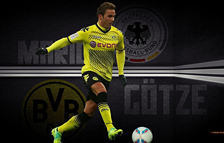 Photo wallpaper Germany, Gotze, Borussia Dortmund, Golden Boy