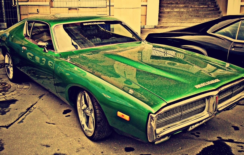 Photo wallpaper Dodge, auto, royal, show, Supercharger
