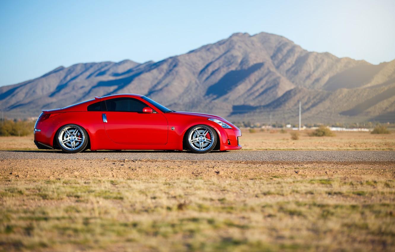 Photo wallpaper car, tuning, red, Nissan, rechange, nissan 350z