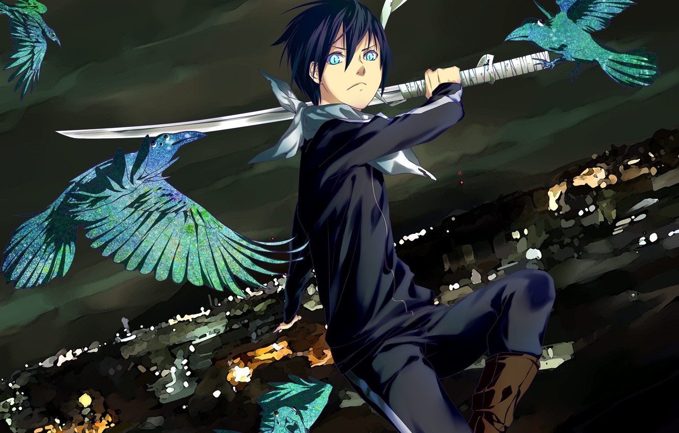 Wallpaper Sword Anime Art Guy Noragami Yato Images For Desktop Section Prochee Download