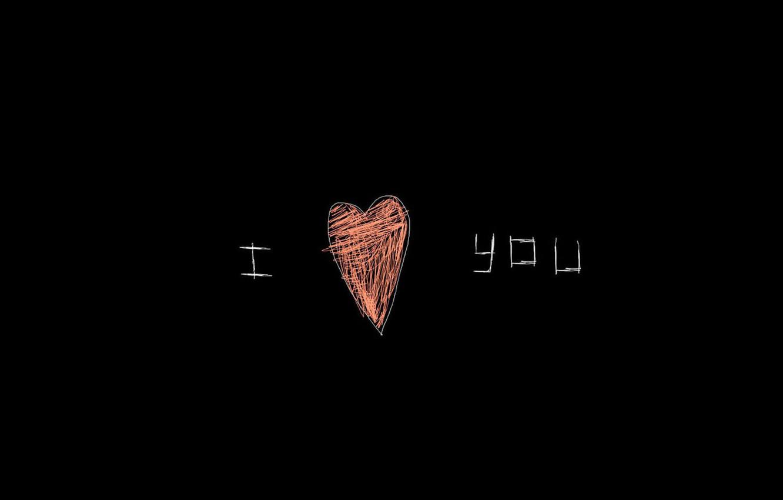 black, heart, figure, drawing, Love