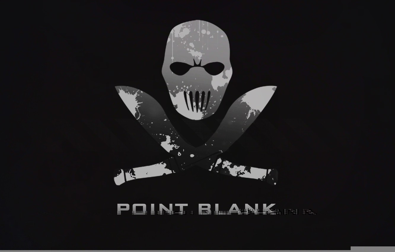 Wallpaper Minimalism The Game Point Blank Black Background