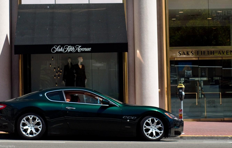 Photo wallpaper green, Maserati, green, shop, Maserati