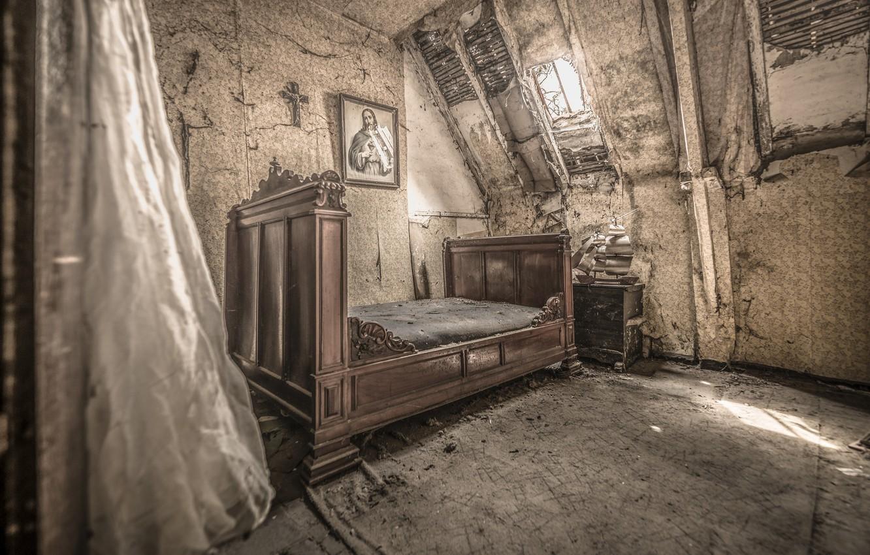 Photo wallpaper room, bed, interior