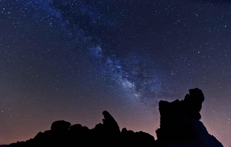 Photo wallpaper space, stars, night, the milky way
