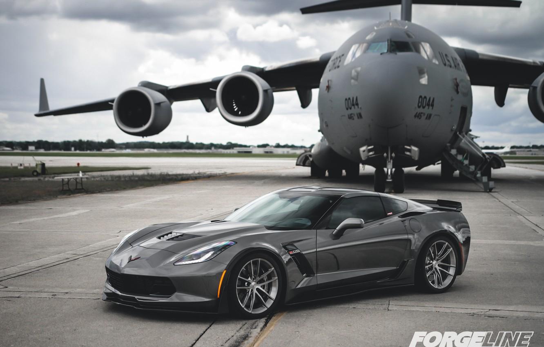 Photo wallpaper Z06, Corvette, Chevrolet, Wheels, AR1, Forgeline