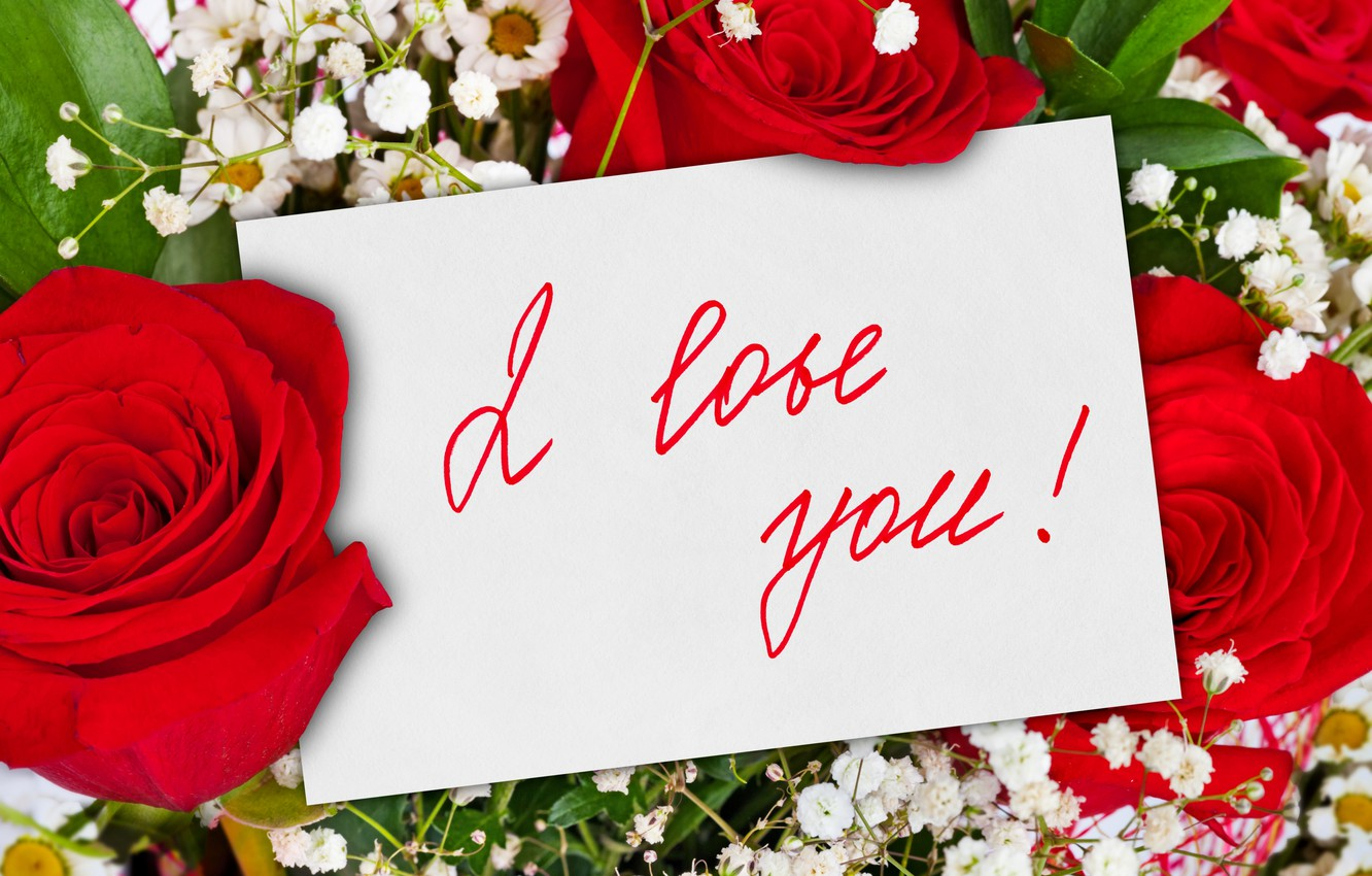 Wallpaper Flowers Romance Roses Bouquet Rose Flower I Love You