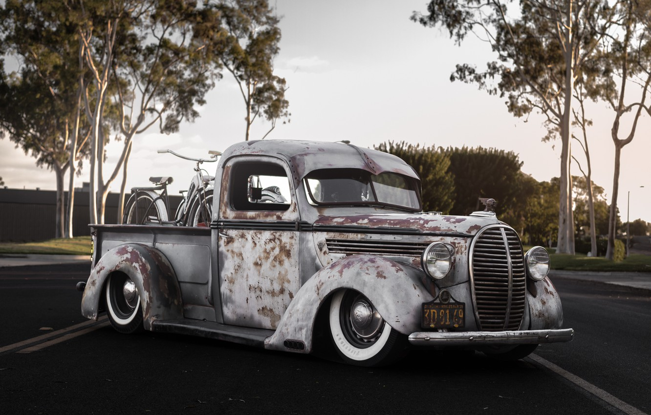Photo wallpaper Ford, retro, old, Bagged