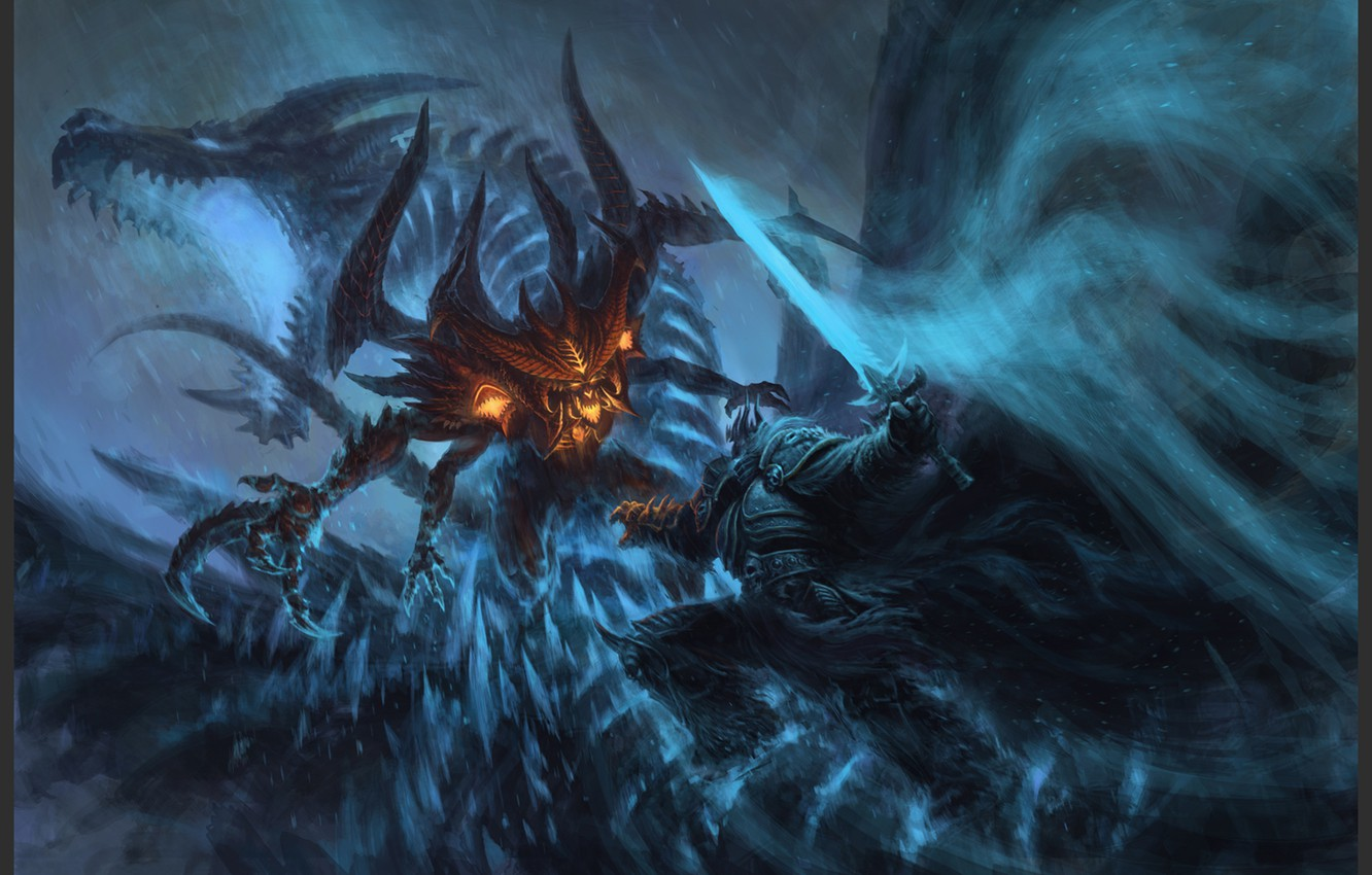 Wallpaper Blizzard Diablo Warcraft Arthas Lich King