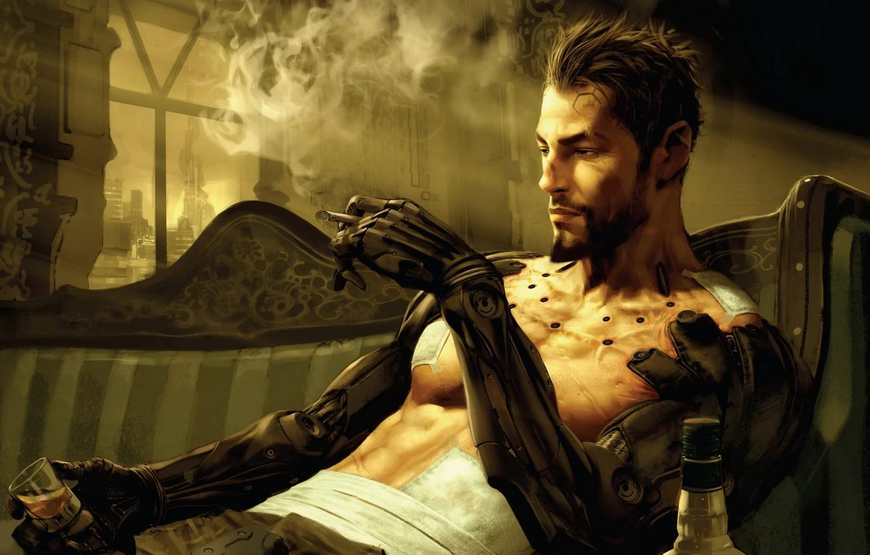 Photo wallpaper smokes, Deus Ex: Human Revolution, Deus Ex 3, implants combat sample