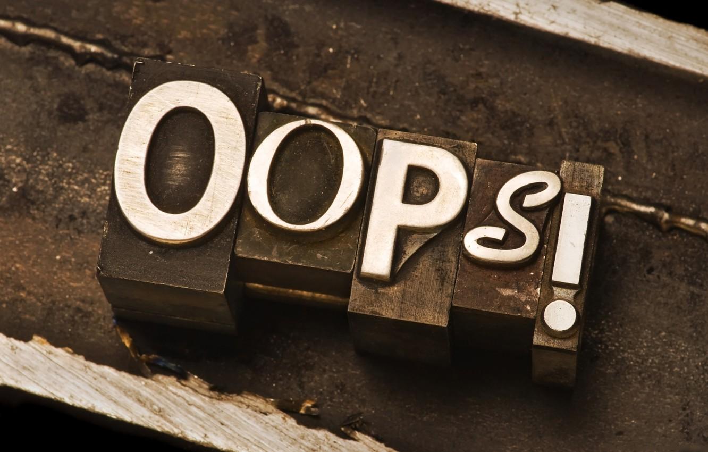 Photo wallpaper macro, the word, oops, oops