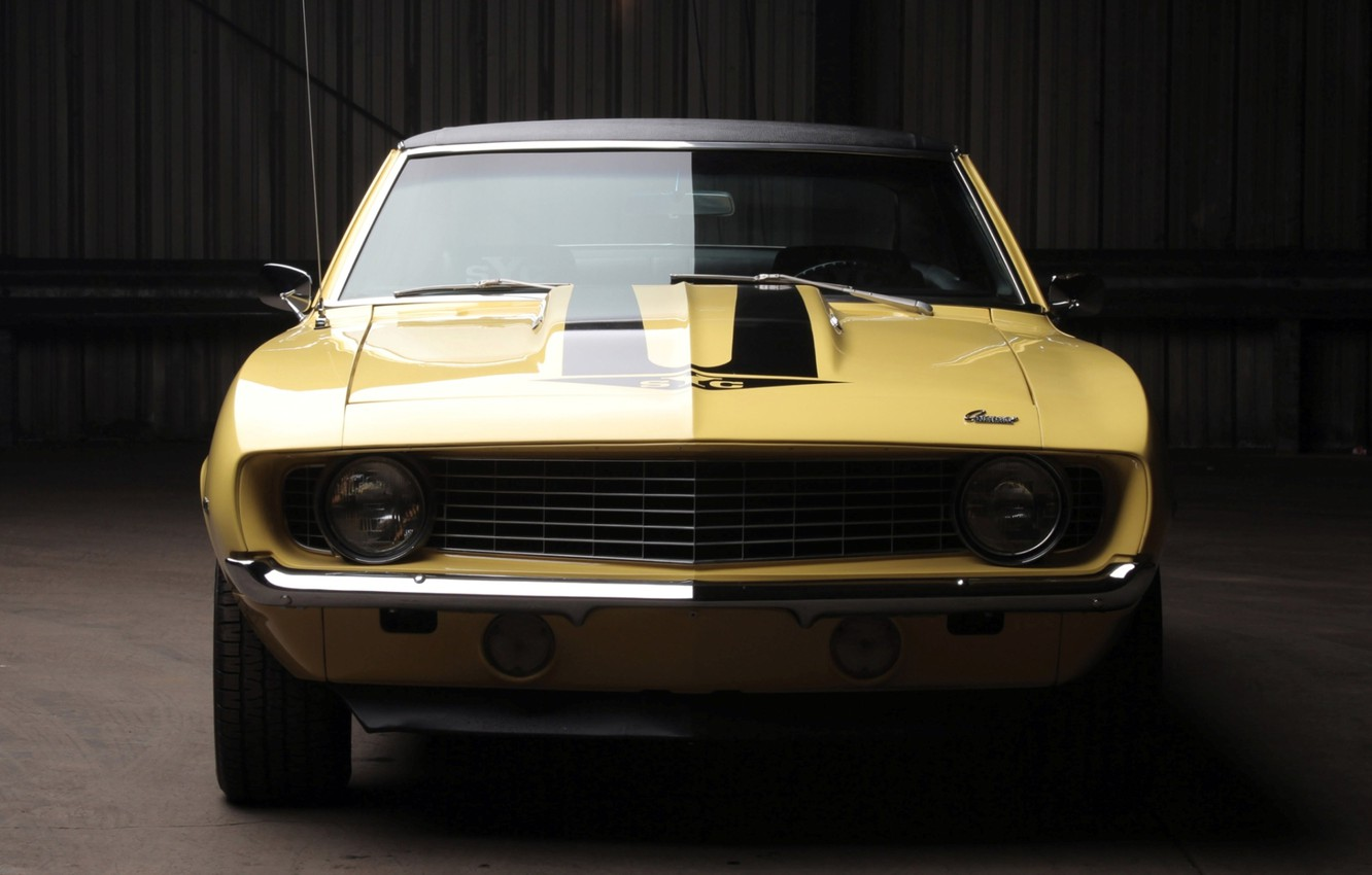 Photo wallpaper background, Chevrolet, 1969, Camaro, Chevrolet, Camaro, twilight, the front, Muscle car, 427, Yenko, Muscle car