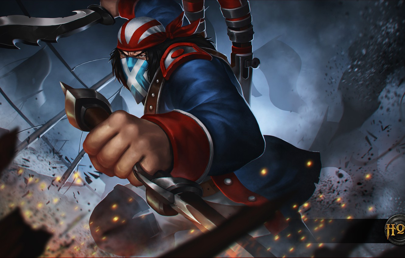 Photo wallpaper hon, art, Independence Day, scout, Heroes of Newerth, moba, Continental Rebel
