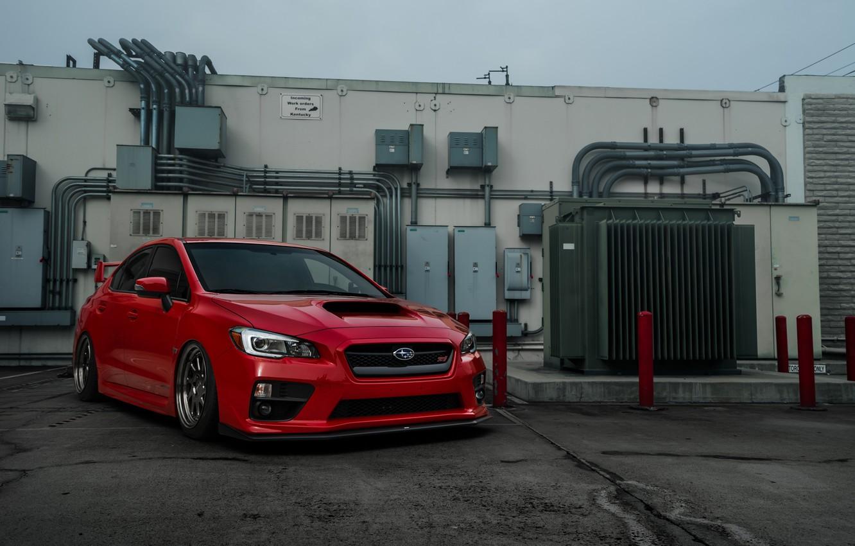 Photo wallpaper Subaru, WRX, red, STI