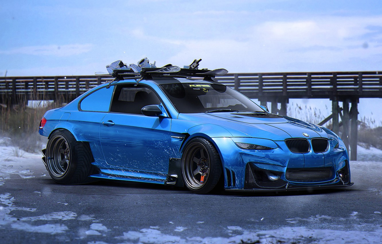 Photo wallpaper BMW, Car, Blue, E92, Tuning, Future, Sport, by Khyzyl Saleem