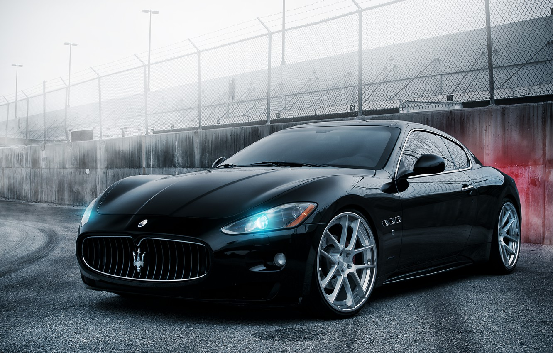Photo wallpaper black, Maserati, black, GranTurismo, Maserati, Gran Turismo