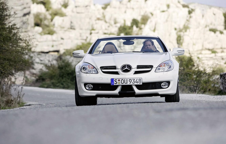 Photo wallpaper machine, Mercedes, mercedes slk 350