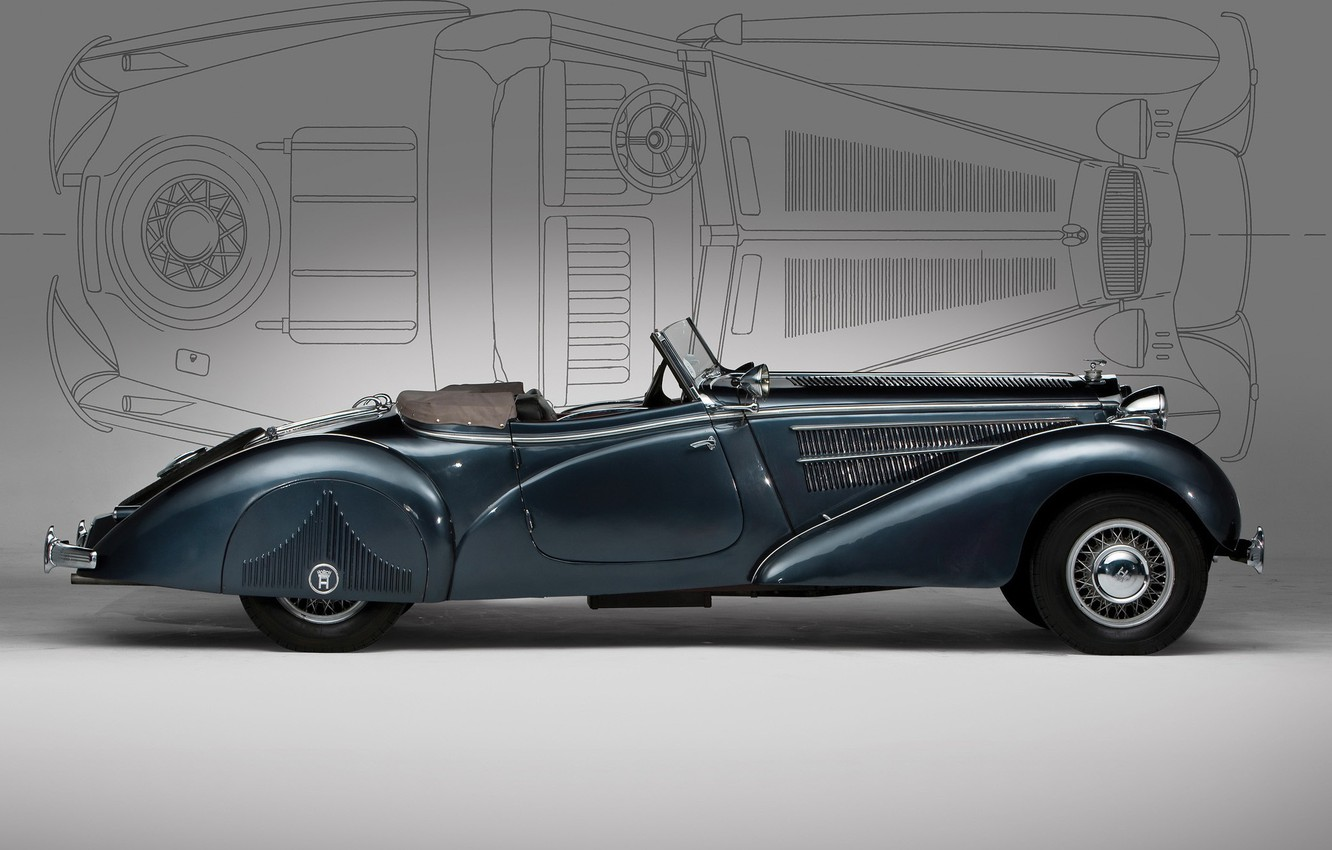 Photo wallpaper old, convertible, Horch
