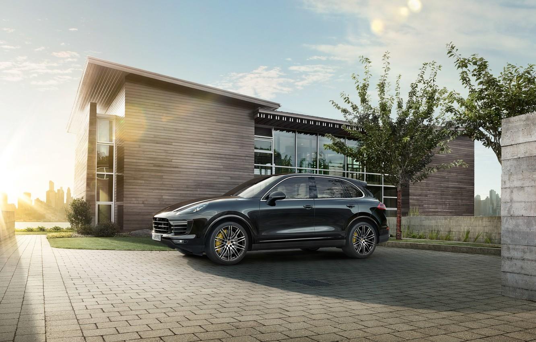Photo wallpaper Porsche, Porsche, Cayenne, Cayenne, 958, Turbo S, 2015