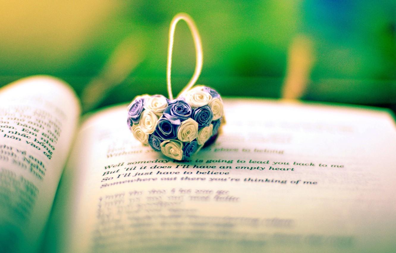 Photo wallpaper flowers, background, the inscription, widescreen, Wallpaper, mood, heart, book, wallpaper, line, flowers, heart, owner, widescreen, …
