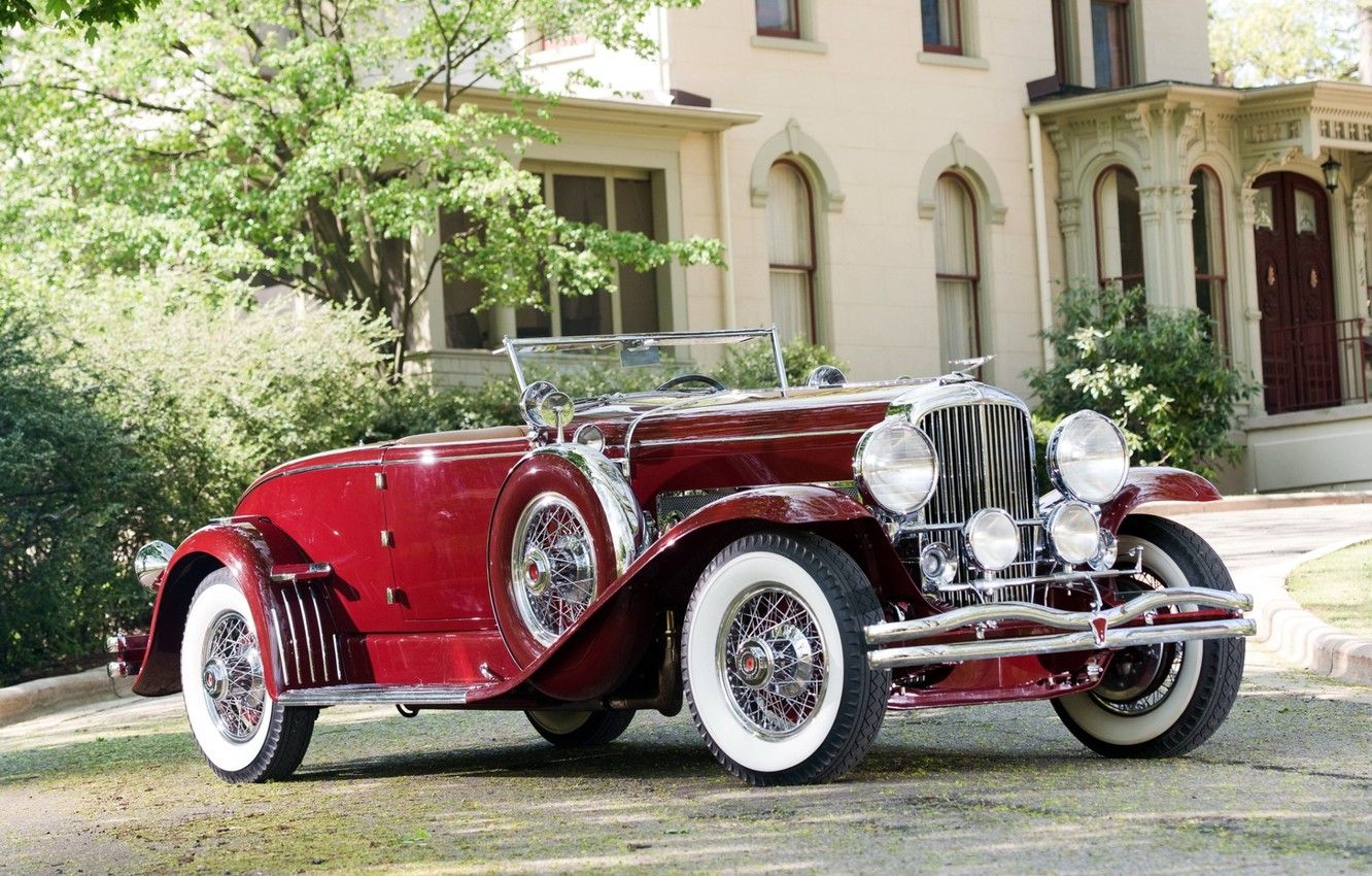 Photo wallpaper retro, background, Coupe, the front, 1931, Convertible, Duesenberg, SWB, 298 2386, by Murphy