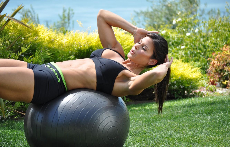 Photo wallpaper ball, workout, abs, sportswear