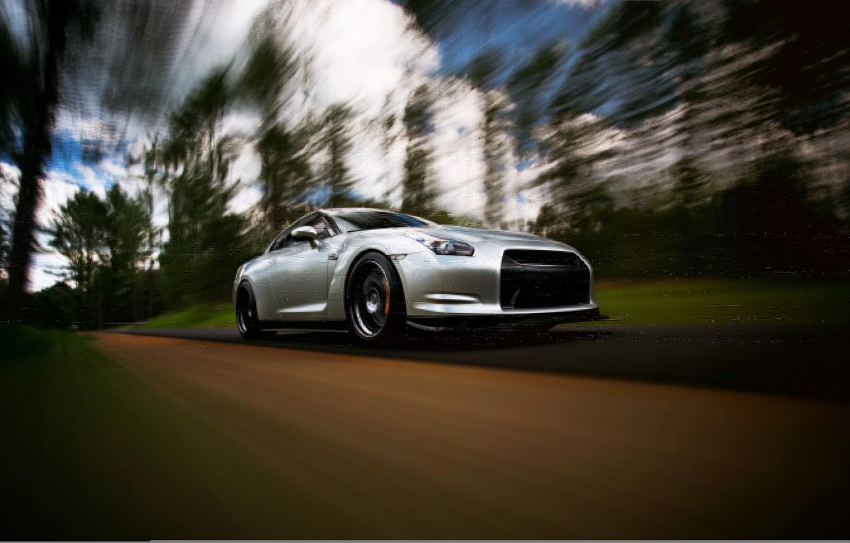 Photo wallpaper GTR, Nissan, wheels, sports car, Nissan, stance