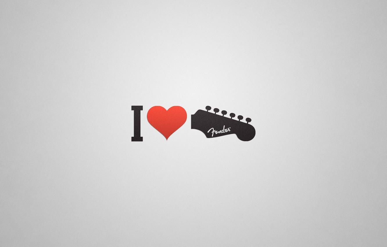 Photo wallpaper heart, guitar, I love, love.