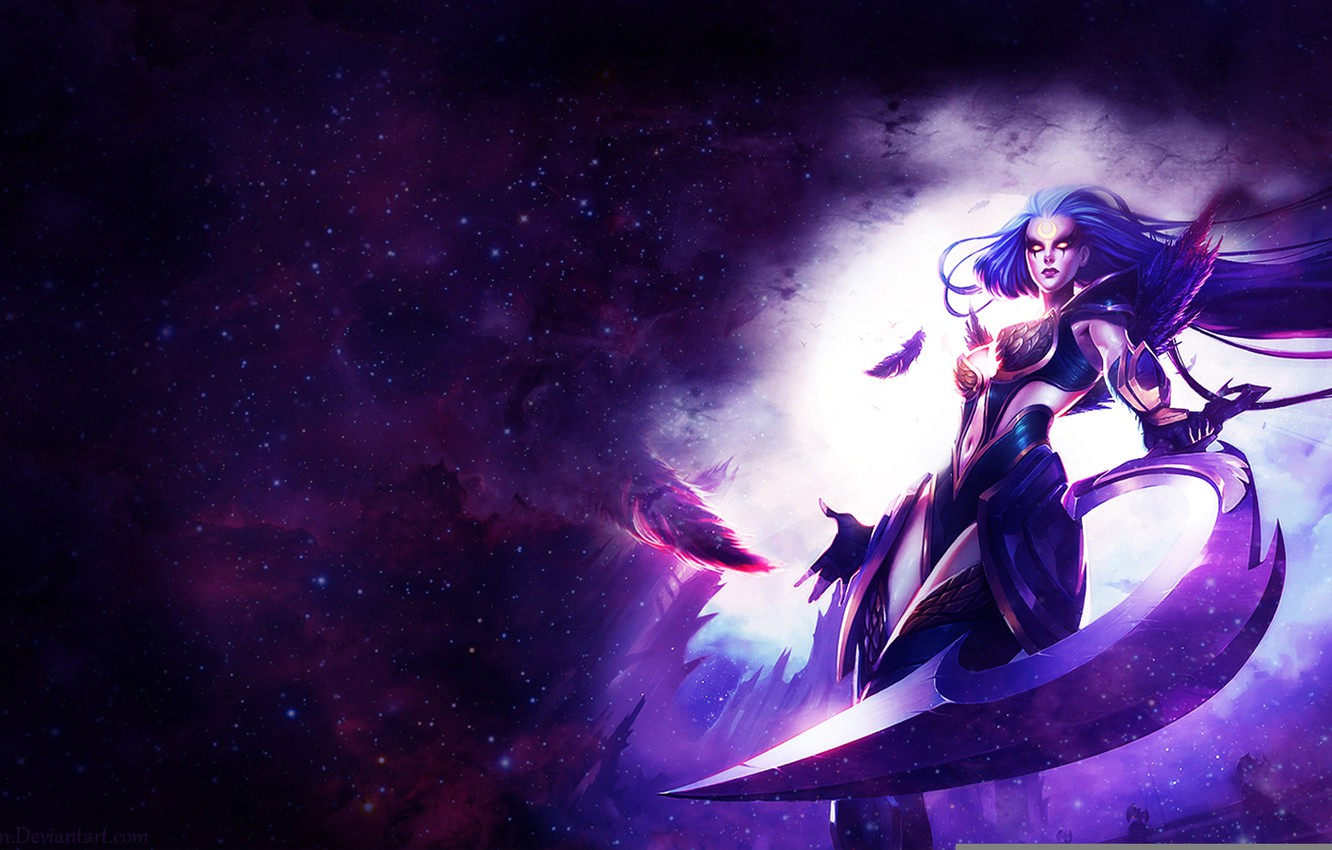 Wallpaper Weapons Diana Girl Art League Of Legends Images For