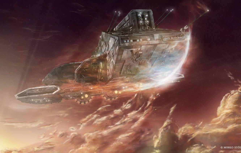 Photo wallpaper space, ships, stargate, daedalus, star gate