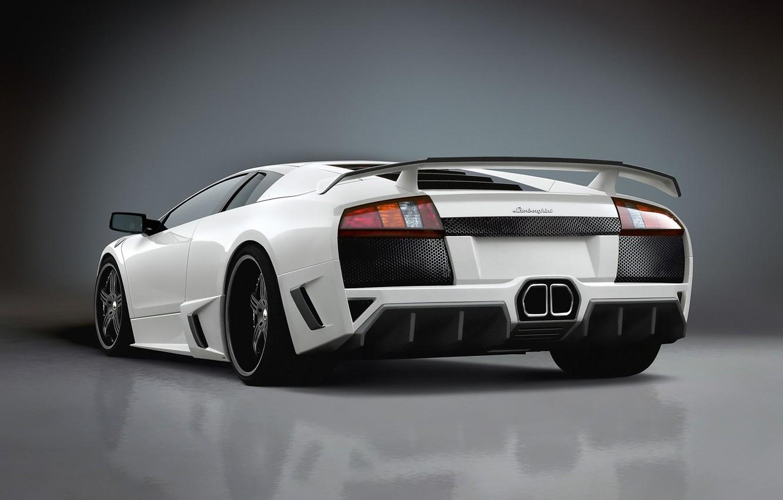 Photo wallpaper auto, white, Lamborghini
