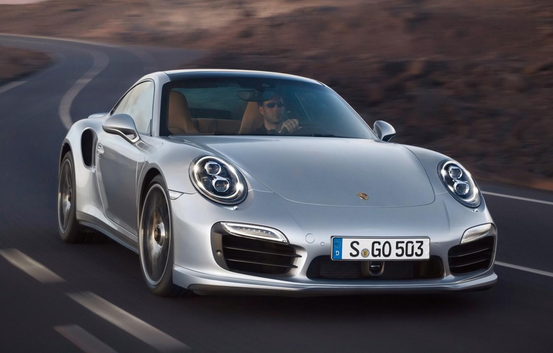 Photo wallpaper road, 911, Porsche, Porsche, the front, Turbo, Turbo